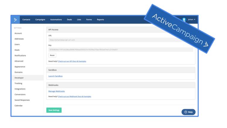 API-key-activecampaign