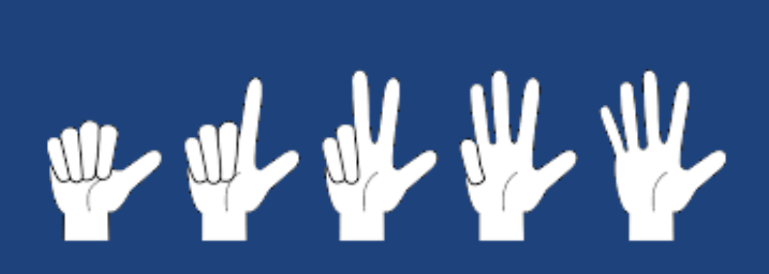 one-to-five-fingers